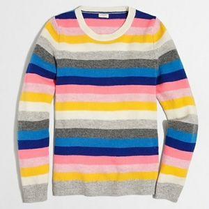 J Crew Multicolored Teddie Striped Sweater